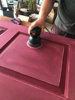 Sanding Pantry Door